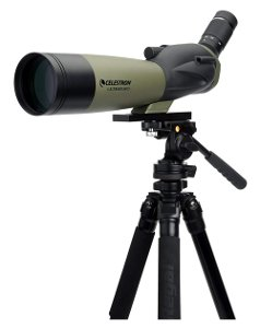 a spotting scope for birding