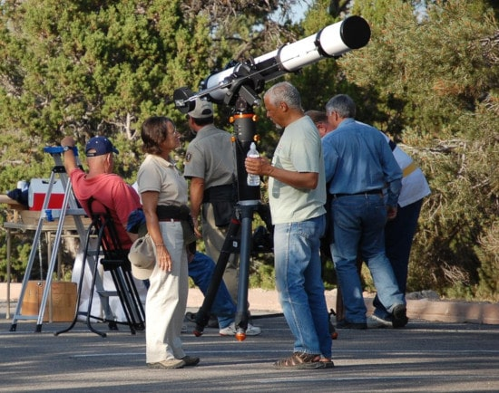 telescope on park
