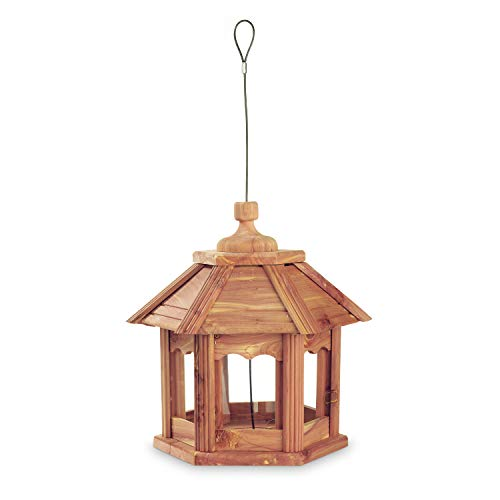 Pennington 100509194 Cedar Gazebo Bird Feeder, 3 LB Capacity