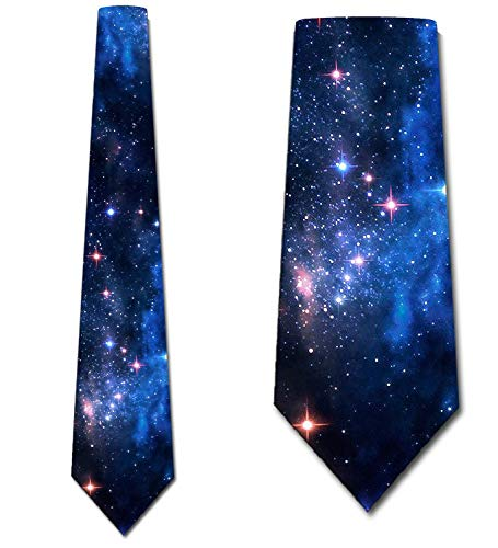Space Ties Mens Galaxy Astronomy Necktie by Three Rooker