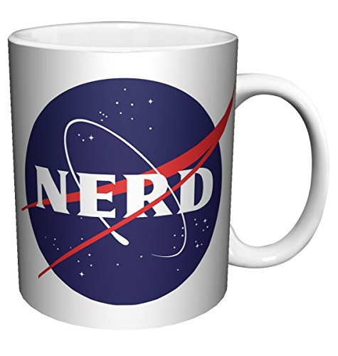 NASA/NERD -Science, space, astronaut, comedy spoof, coffee, tea, hot beverage Mug (11 oz C Handle Mug)