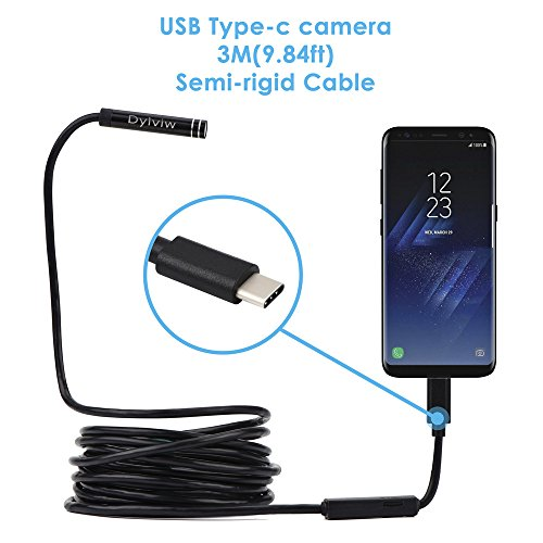 Dylviw 3 Meter Rigid Cable USB C Endoscope