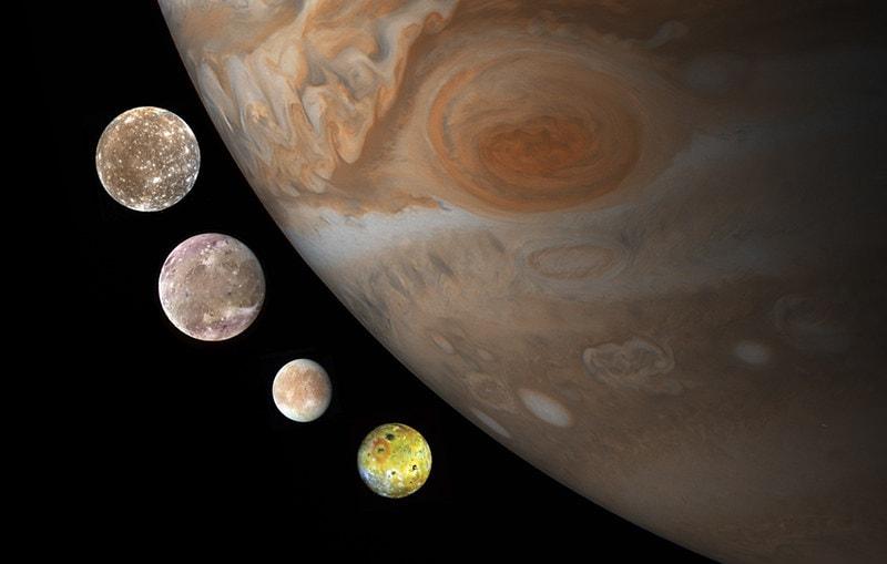 Four moons of jupiter