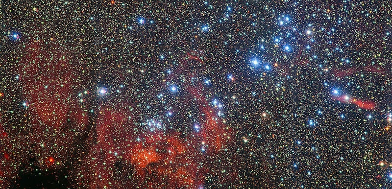 Galaxy and star cluster