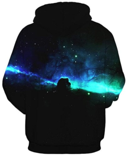 HelloTem Unisex 3D Galaxy Printed Sweatshirt Men's Pullover Big Pockets Hooded Hoodies