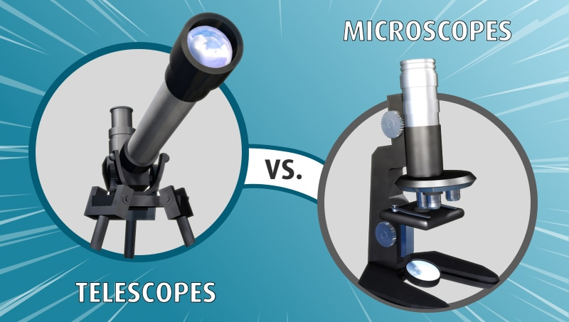 telescopes vs microscopes