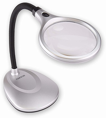 Carson LM-20 DeskBrite200 Lighted Magnifier