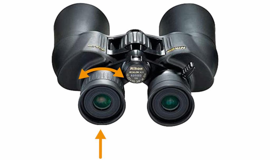 Binoculars diopter