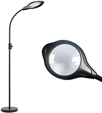 Lelife LED Floor Lamp Magnifier
