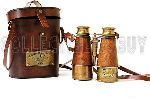 Antique Victorian Marine Brass Leather