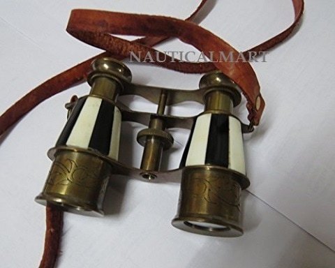 Marine Brass Binocular with Antique Finish Spy Glass with Belt