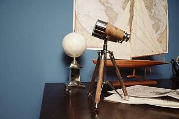 Old Modern Handicrafts Brass Binocular on Stand Collectible
