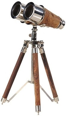 Old Modern Handicrafts Brass Binocular on Stand Collectible