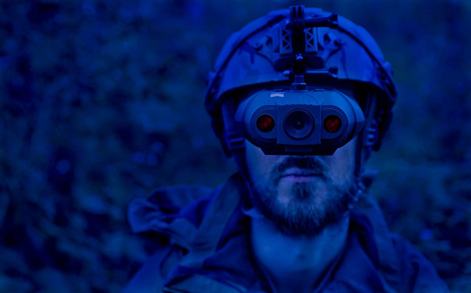 man wearing Night Fox Swift Night Vision Goggles