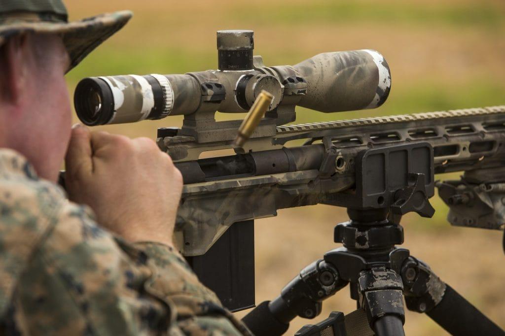 marines using a riflescope