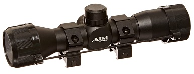 Aim Sports 4X32 Compact Rangfinder Scope with Rings