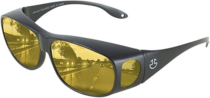 Optix 55 HD Day : Night Driving Glasses Fit Over Sunglasses for Men & Women