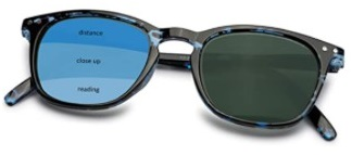 Optix 55 Progressive Multifocal Reading Sunglasses for Men & Women