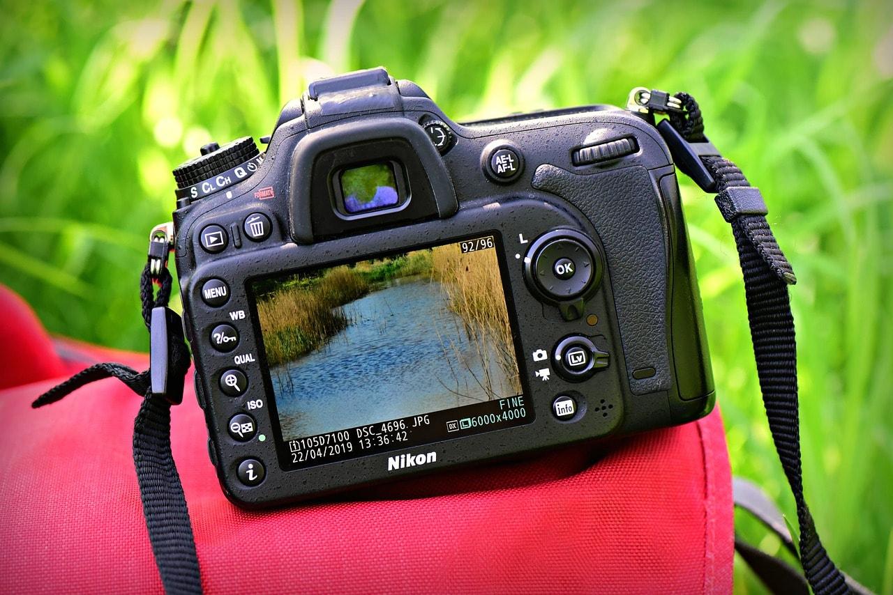 close up dslr camera