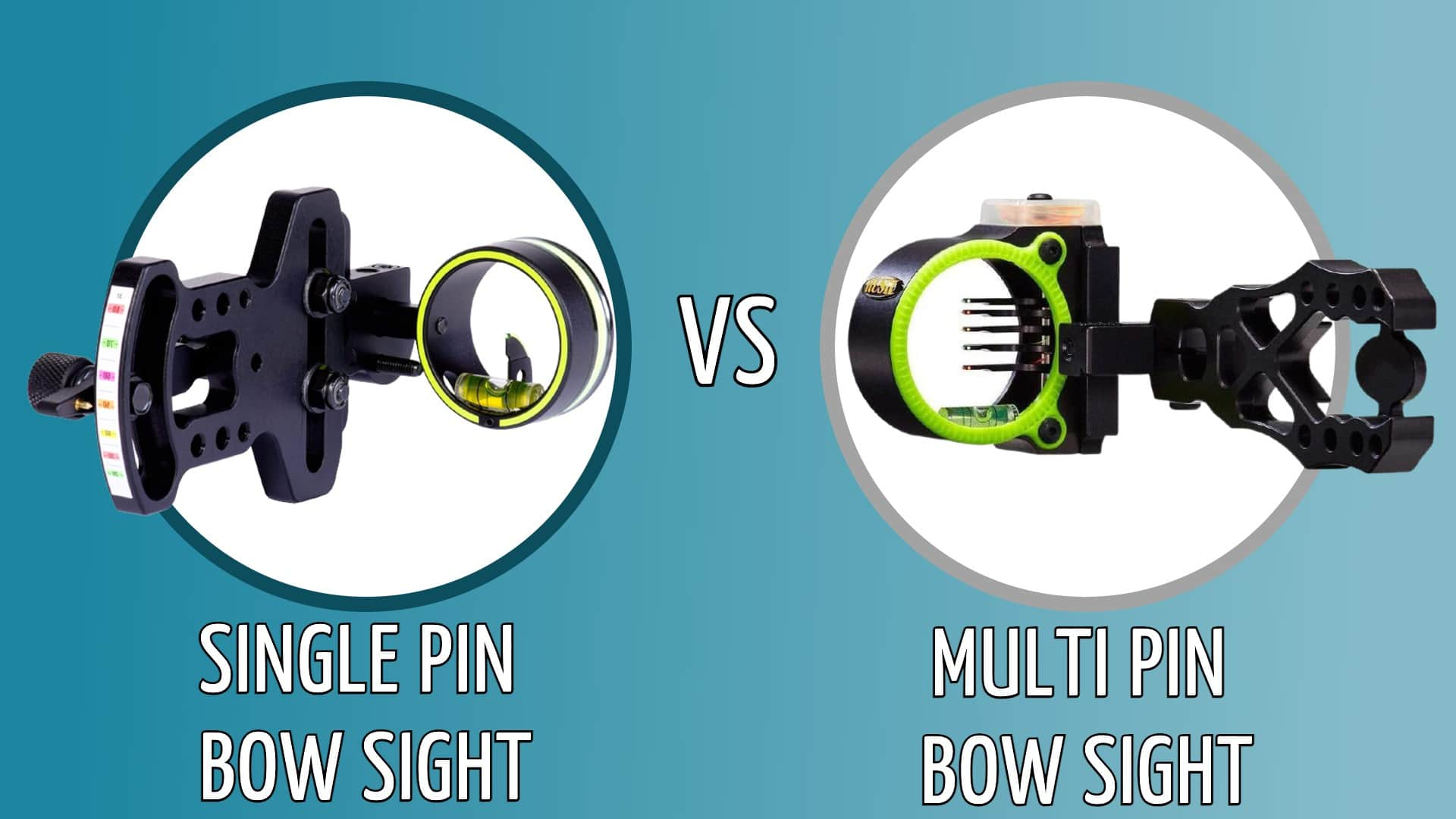single vs multi pin bow sight