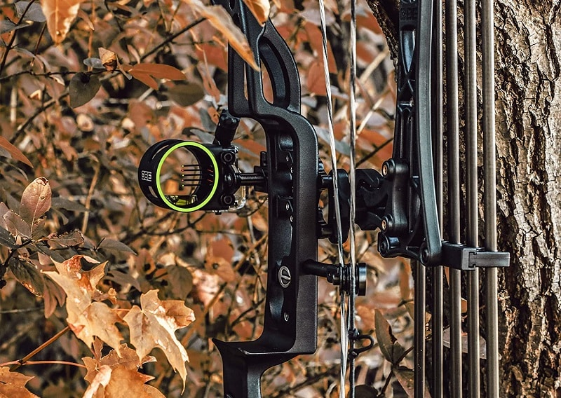 CBE Tactic Bow Sight installed on a bow