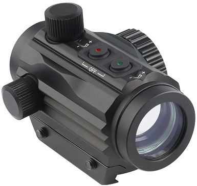 Two 1x22mm 5 MOA Red Green Dot Sight
