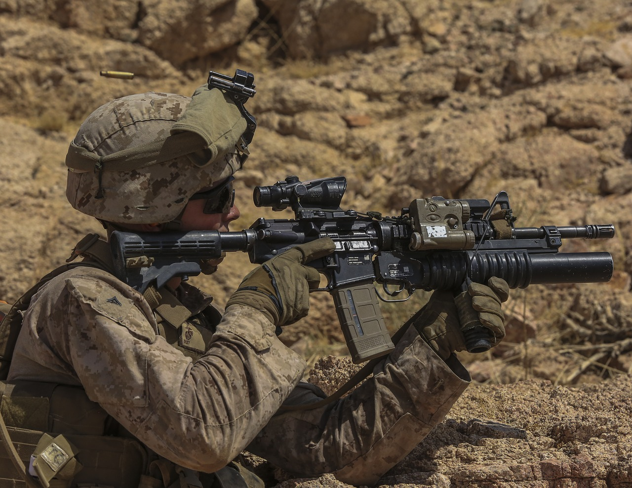 army using M1A