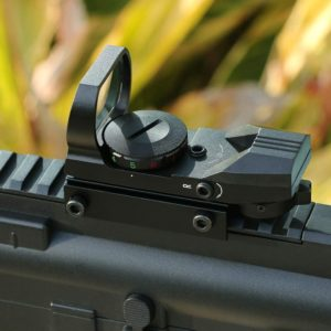 close up Feyachi Adjustable Reticle Reflex Sight