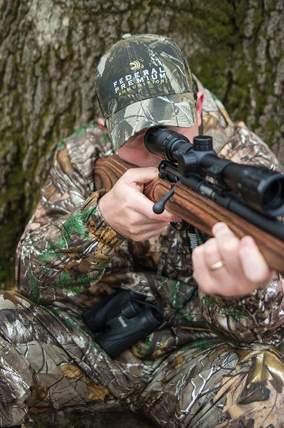 man using Bushnell 613510A Rimfire Optics Scope