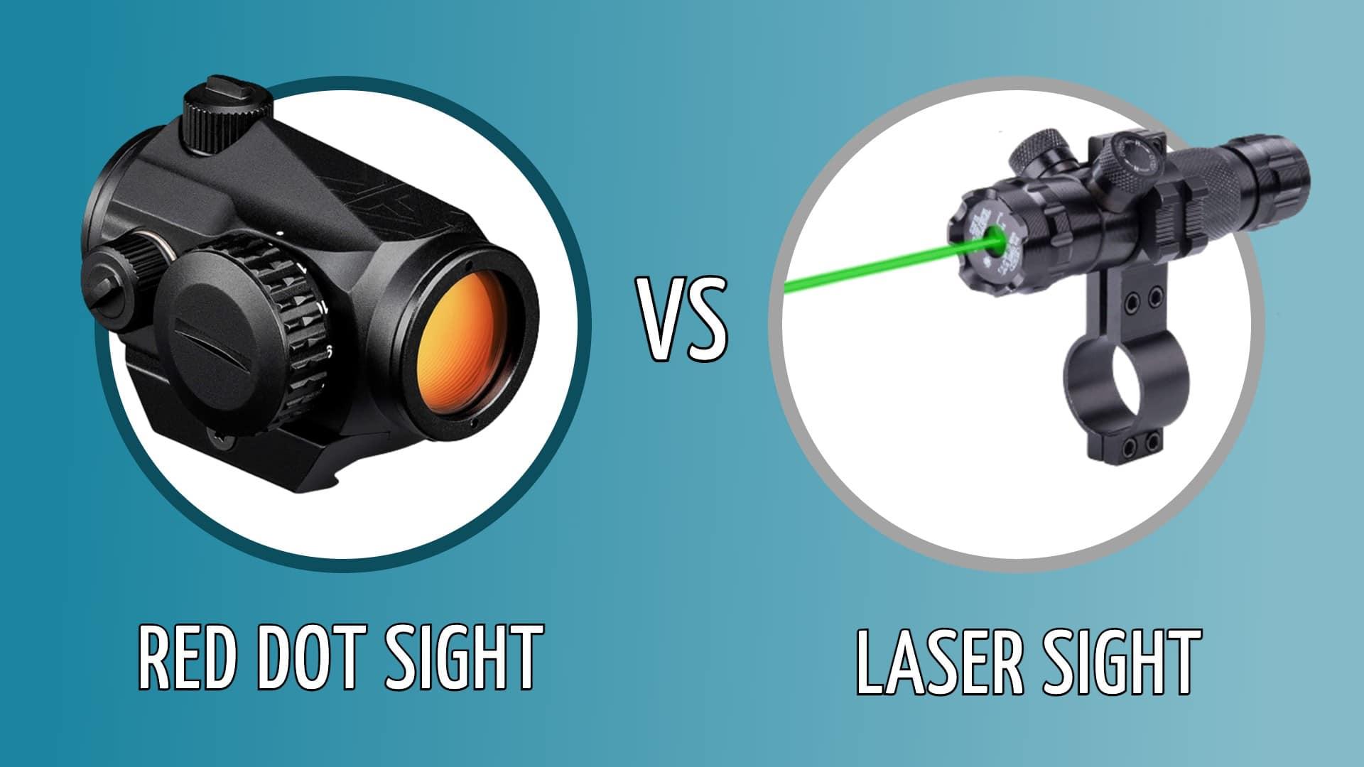 red dot vs laser sight