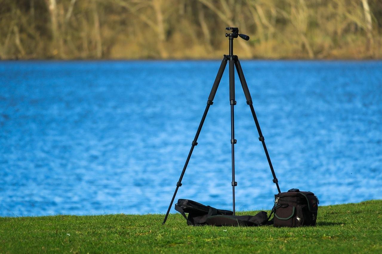 tripod by the lake