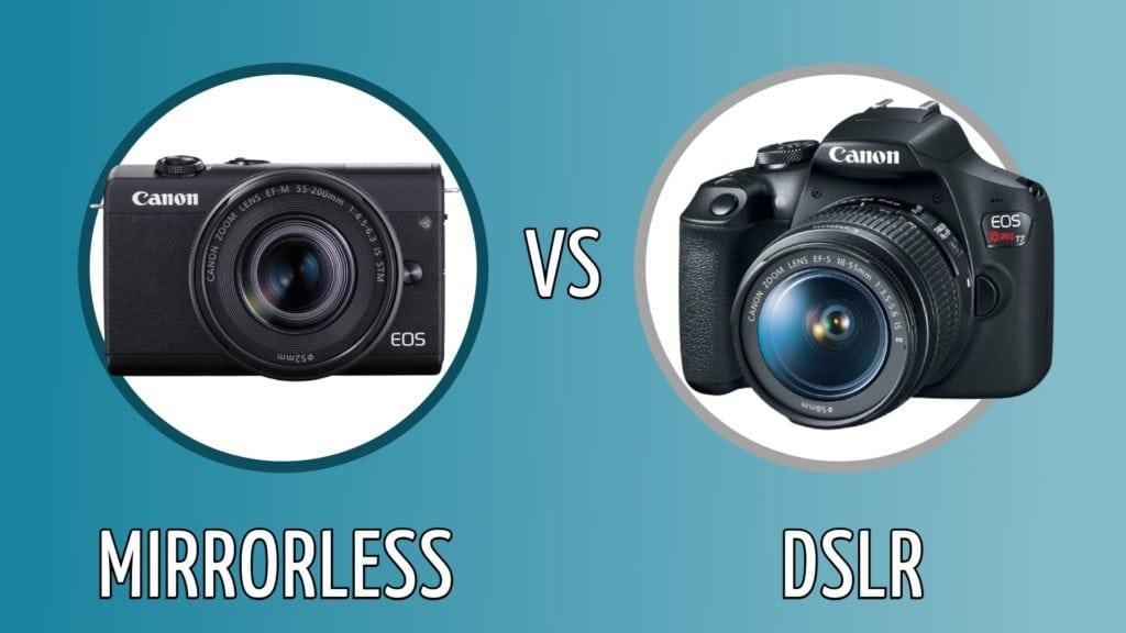Mirrorless vs DSLR camera