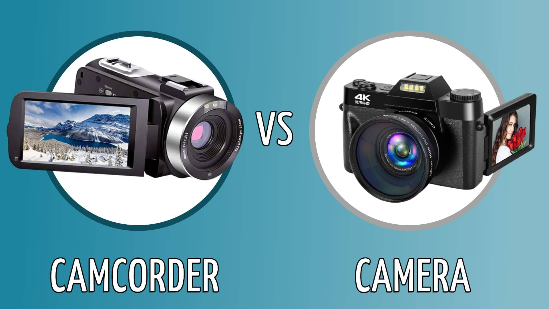 camcorder vs camera