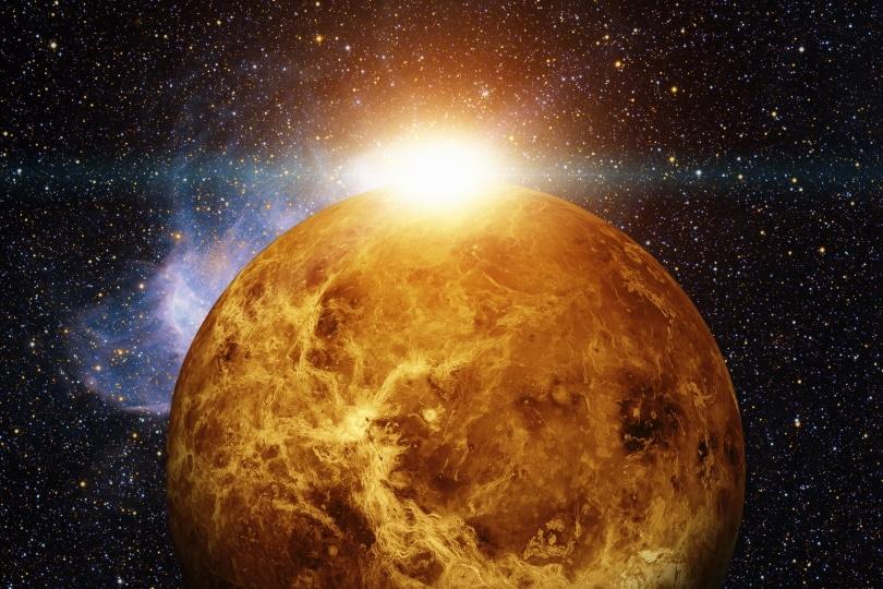 planet venus and sun_NASA images_Shutterstock